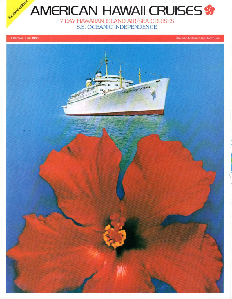 OCEANIC INDEPENDENCE: 1951 - Maiden year 1980 Hawaii brochure