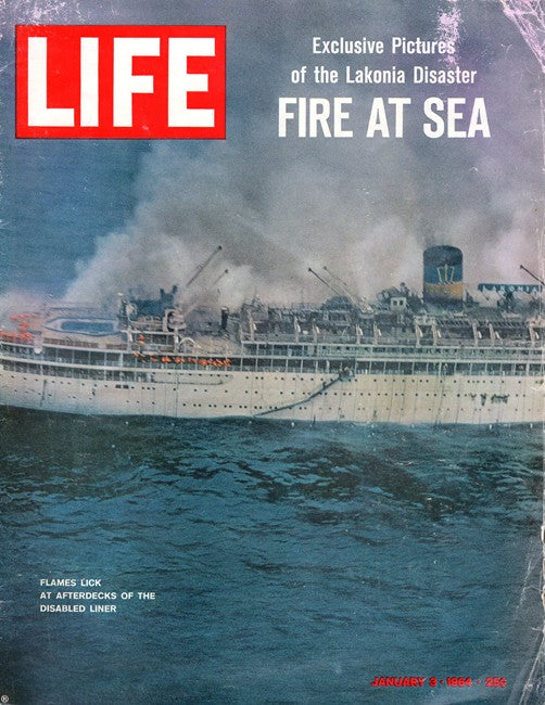 LAKONIA: 1929 - LIFE fire issue 1/3/64