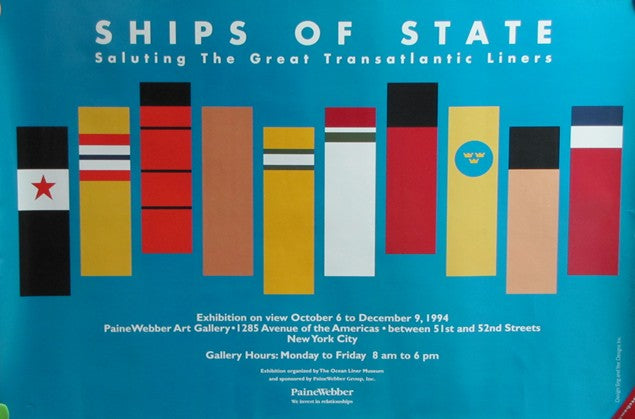 "Various: pre-war - ""Ships of State"" museum poster"