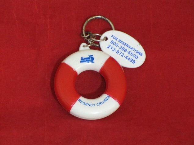 Various Ships - Regency Cruises life ring keychain