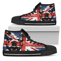 English Bulldog High Tops Shoes