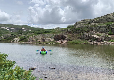 Packrafting the Alpine Lakes of Western Colorado