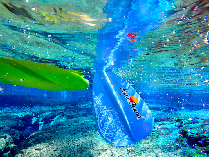 sup paddle under water