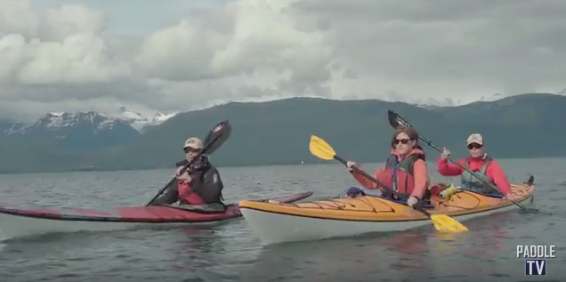 sea kayakers in alaska
