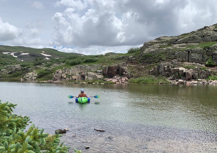 Packrafting on Highland Mary Lakes in Colorado