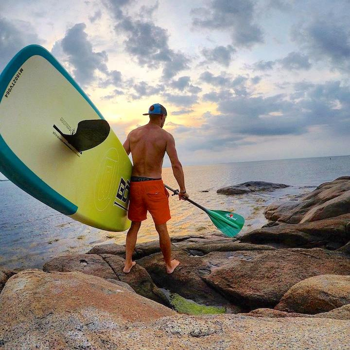 man ready to launch SUP