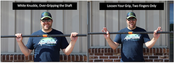 how to hold a straight shaft kayak paddle