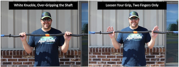 how to hold a bent shaft kayak paddle