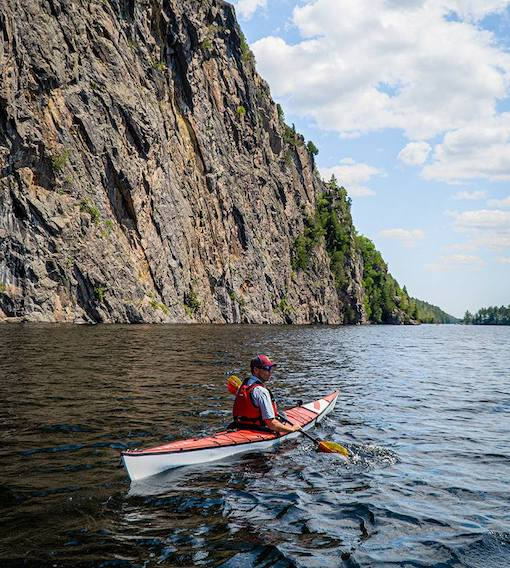 ken whiting kayaking bon echo provincial park