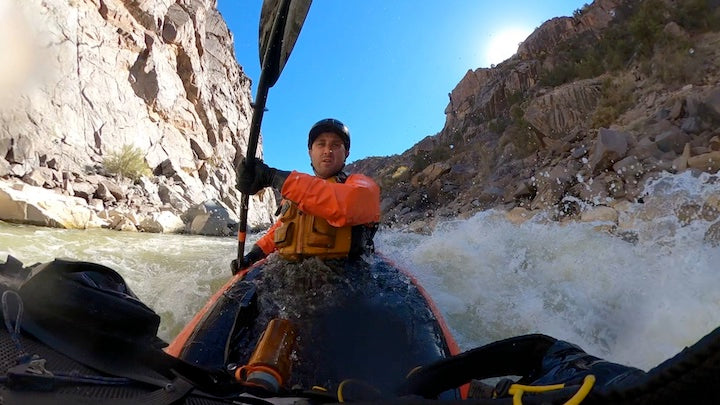 packrafting funnel falls in westwater canyon