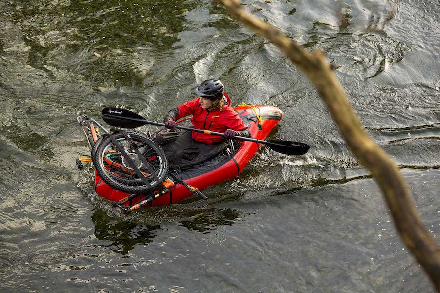 packrafting with a carbon kayak paddle