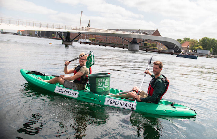greenkayak team cleaning a river