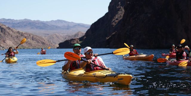 evolution expeditions uses aqua-bound kayak paddles