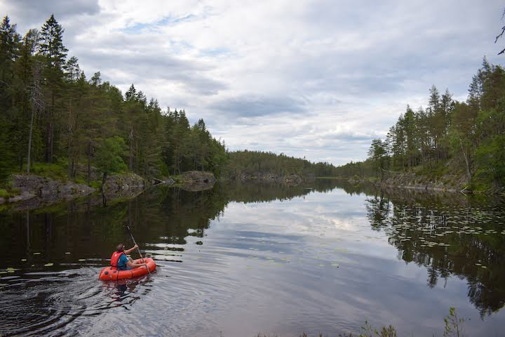 packrafting in sweden