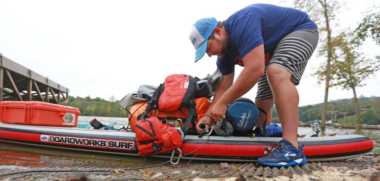 preparing to marathon paddle