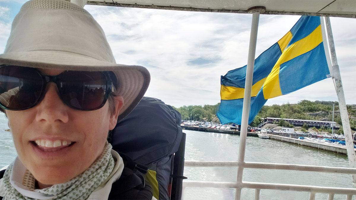 jill sessa ferry ride in sweden