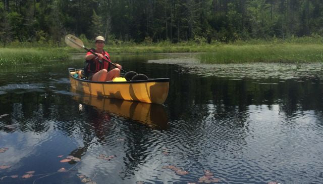 laurie chandler in her canoe
