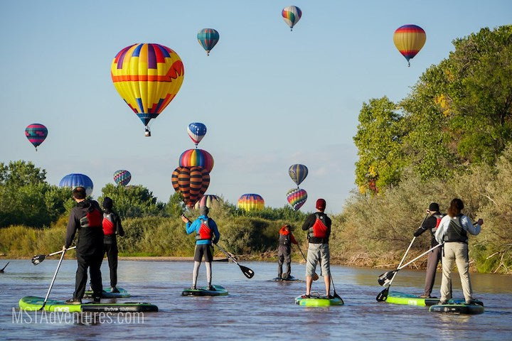 albequerque balloon festival by paddleboard