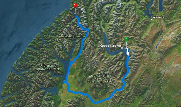 map - get to milford sound