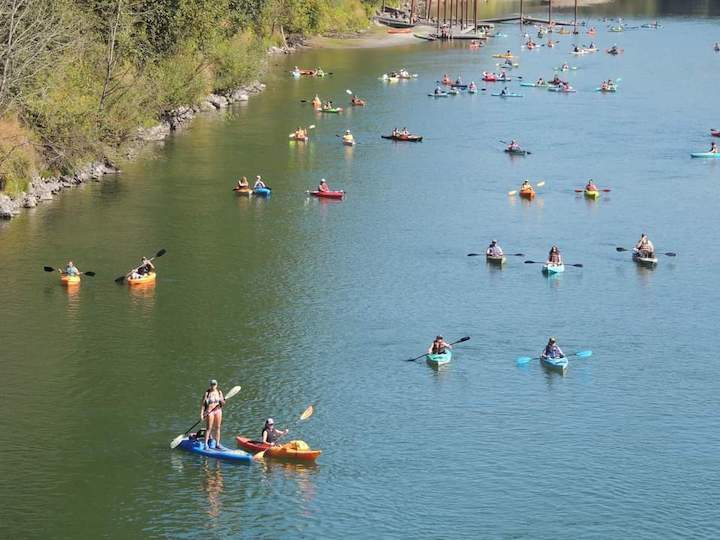 northwest kayak group float