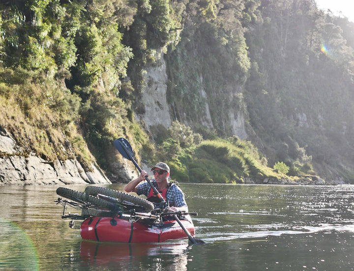 bikerafting Whanganui River New Zealand