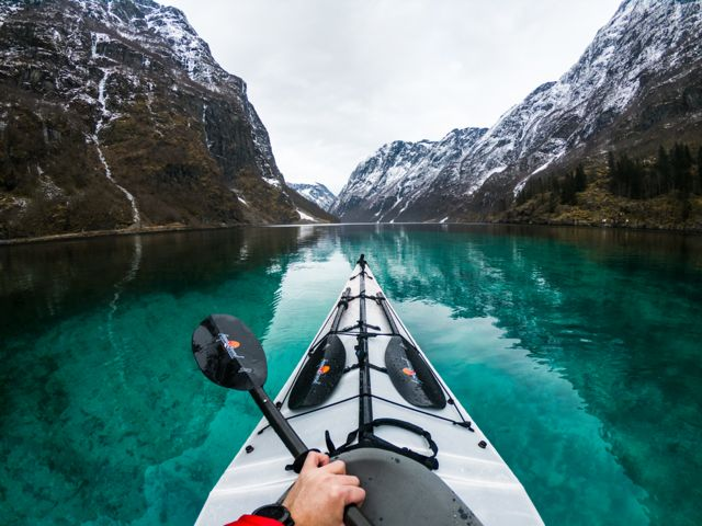 kayaking norway's fjords