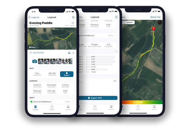 paddle logger app for iphone and iwatch
