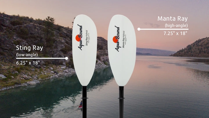 sting ray vs. manta ray aquabound kayak paddles
