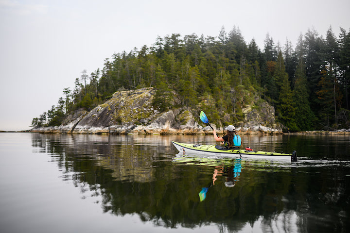 kayaking with a rudder