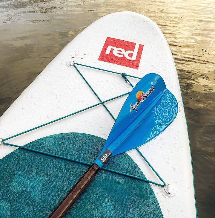 SUP board and paddle