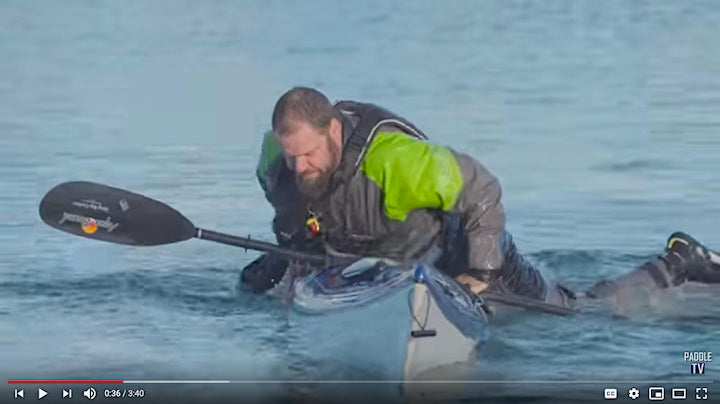 kayaker with self-rescue skills