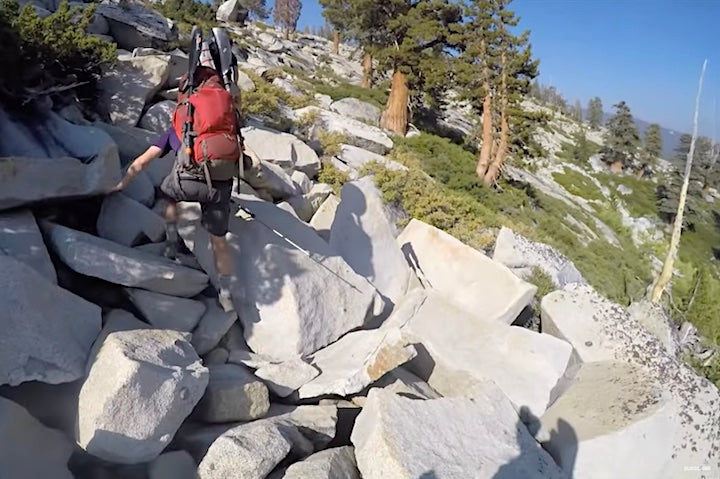 backpacking the high sierras
