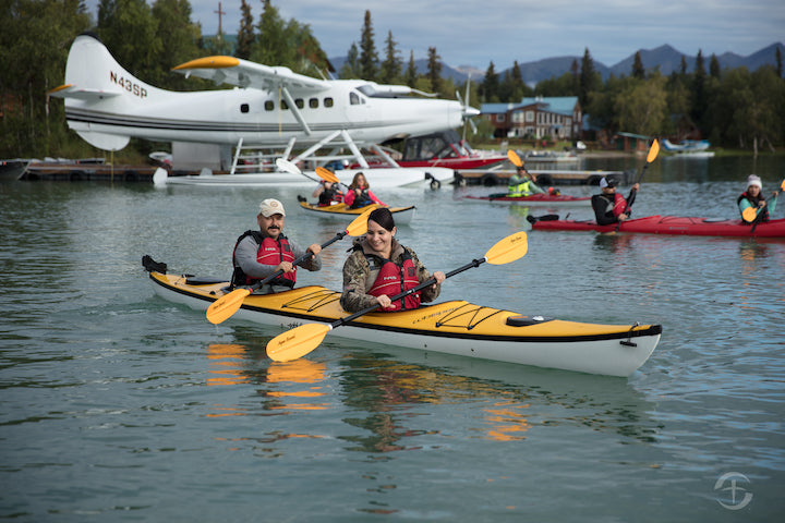kayakers in operation heal our patriots program