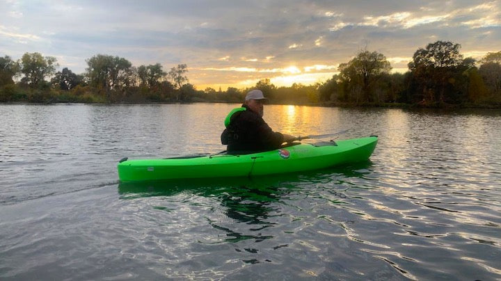 tom chekouras in his kayak
