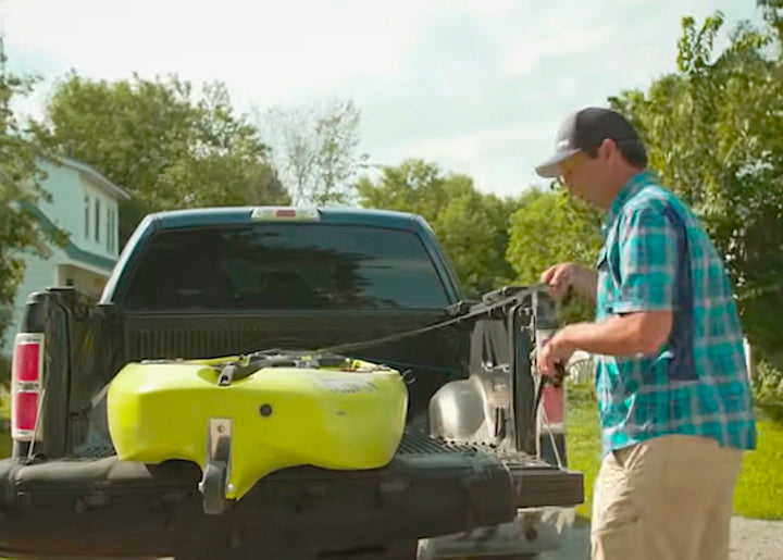 transport your kayak in a pickup bed