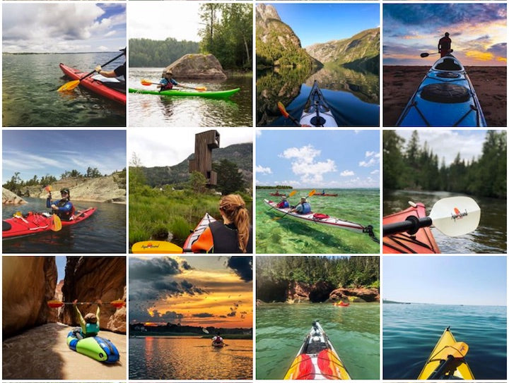 aquabound's facebook screen shot wilderness kayakers