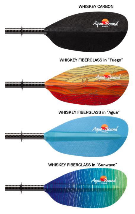 aqua-bound whiskey fiberglass kayak paddles