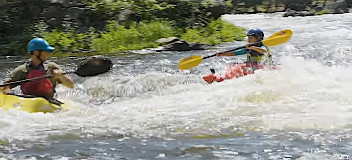 dad and daughter whitewater kayaking