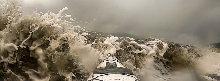 kayaking in a storm