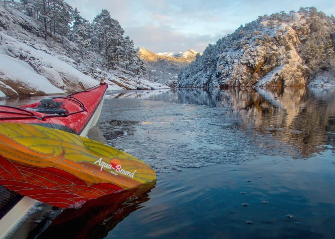 beauty of winter kayaking