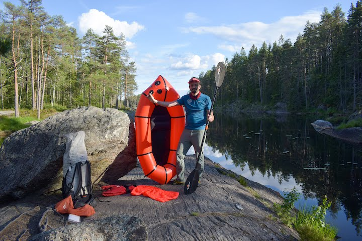Jacob Kastrup Kaagensen packrafting trip in Sweden