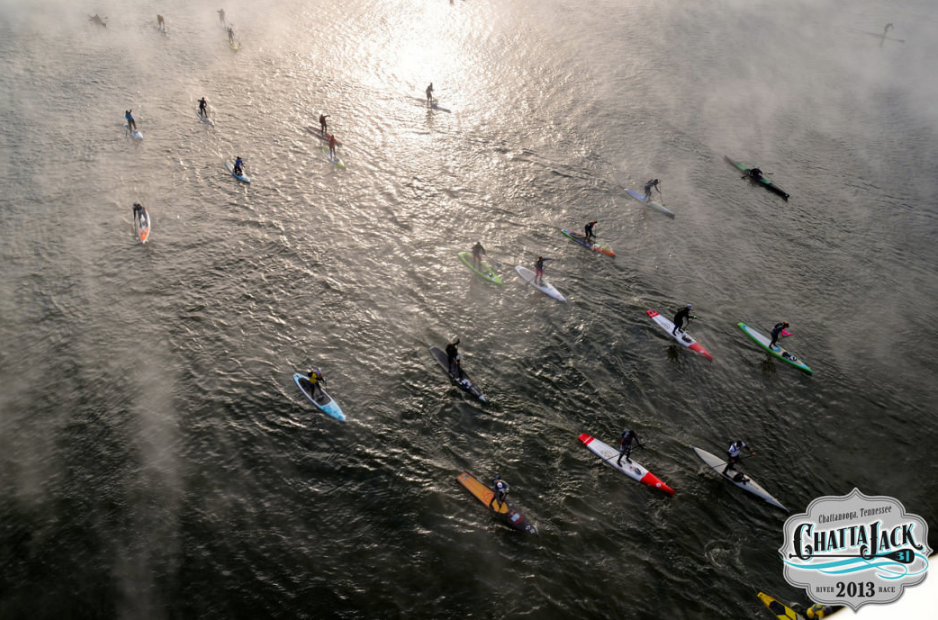 The fog rising from the river as the racers set off on a full day of paddling adventure.  ChattaJack31