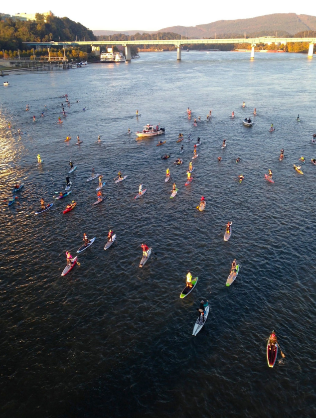 There they go! Paddlers setting off on 31 miles of enduring fun.  Ry Glover