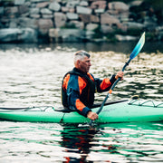 right side of man kayaking
