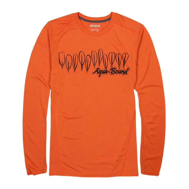Orange Competitor Long Sleeve Shirt
