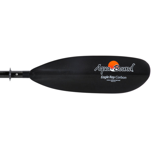 right blade of eagle ray carbon 4-piece snap-button kayak paddle