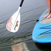 lyric sup paddle about to enter the water