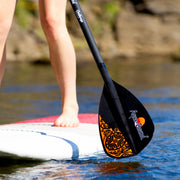 challenge sup paddle about to enter the water