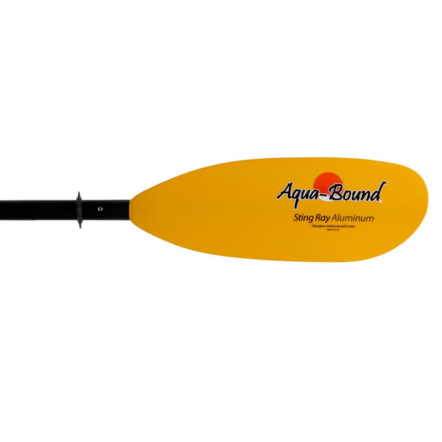 right blade of sting ray aluminum 4-piece kayak paddle
