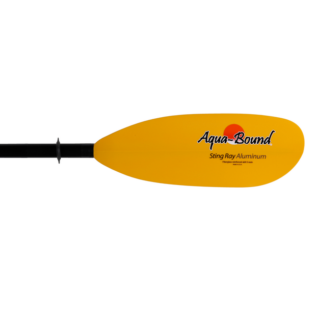 right blade of sting ray aluminum 2-piece kayak paddle